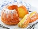 Рецепта Лесен домашен лимонов кекс с кисело мляко